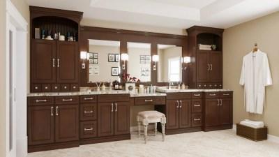 Bathroom Cabinets York Chocolate - Kitchen Envy Cabinets