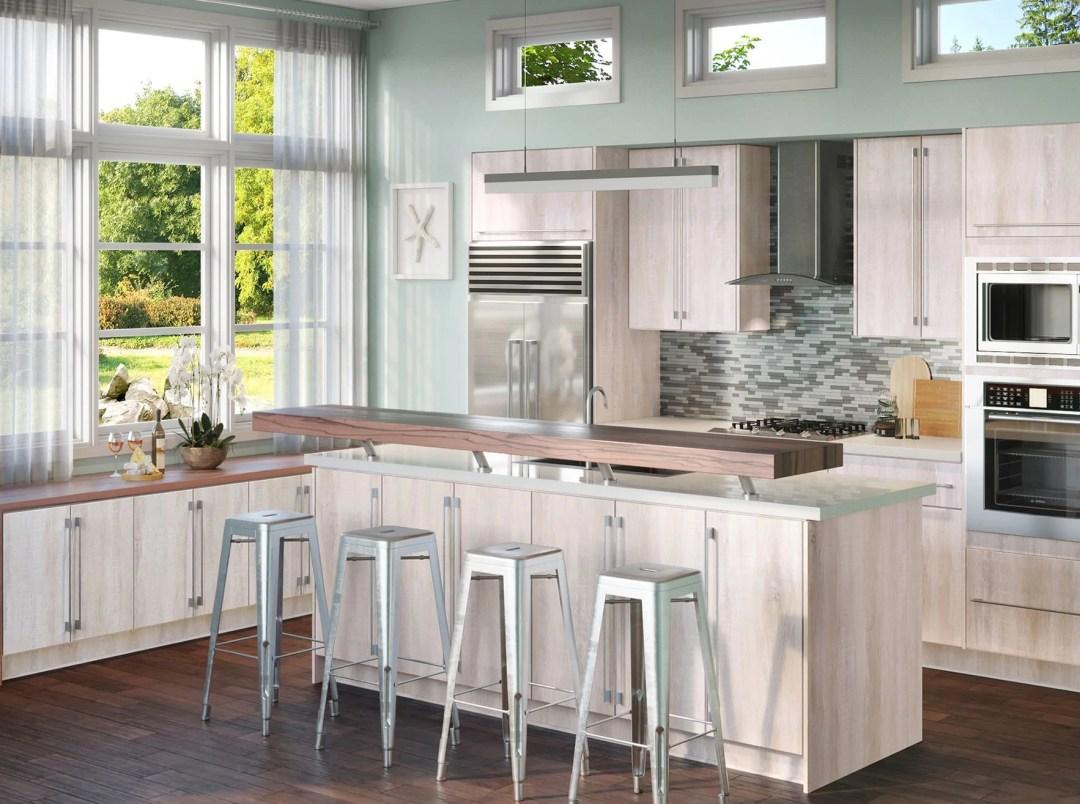Riviera Oyster Kitchen Cabinets - Kitchen Envy Cabinets
