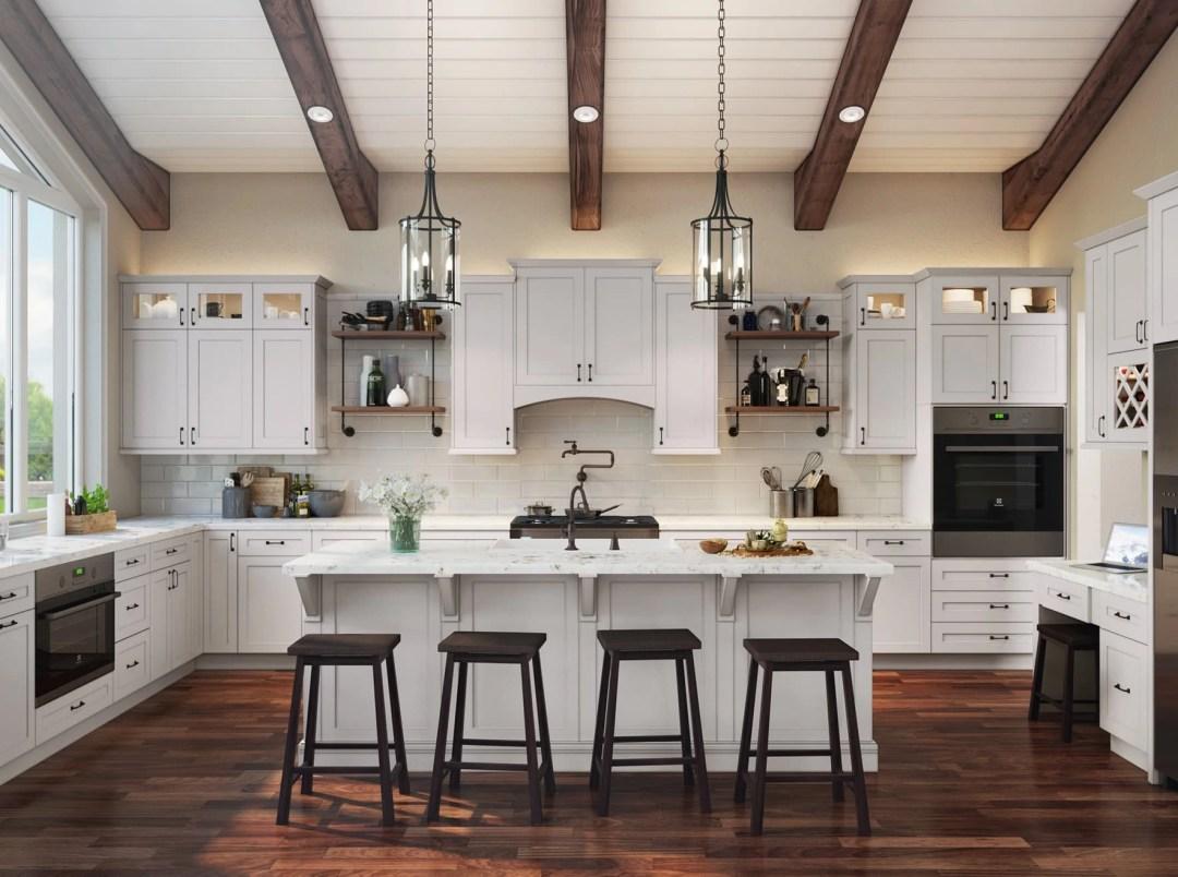 Shaker Dove Closeup - ready-to-assemble RTA Kitchen Envy Cabinets