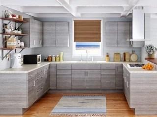 Modern Frameless Grey Kitchen Cabinets - Kitchen Envy Cabinets