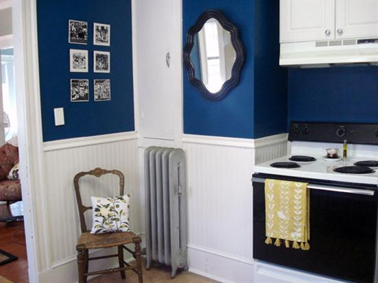 re-painting old walls in your kitchen
