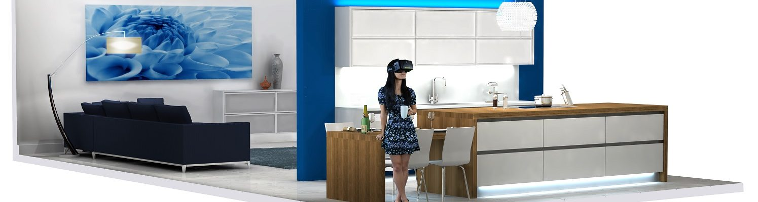4d Kitchen created in Virtual Worlds