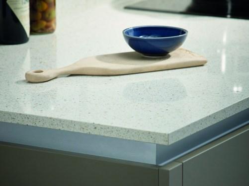 Quartz Bushboard Ivory stone Kitchens Review