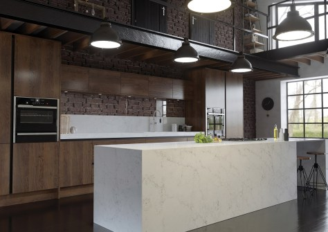 Antonella CRL Quartz marble effect industrial worksurface