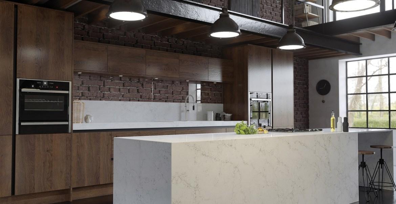 Antonella CRL Quartz marble effect industrial worksurface
