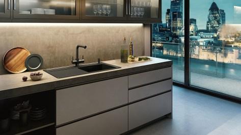 InSinkErator 4N1 L Shape Velvet Black and Soap Dispenser showroom collection