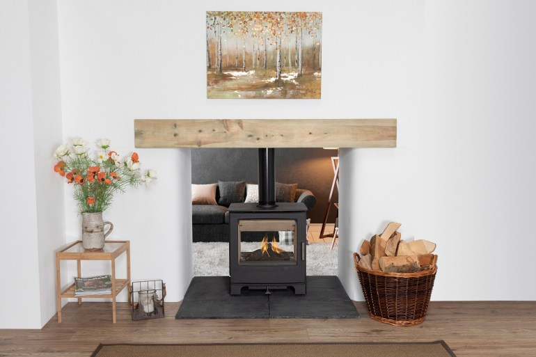 Mendip Stoves double sided wood burner