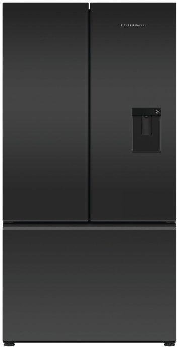 FP-Black-Recessed-Handle-French-Door-Refrigeration-