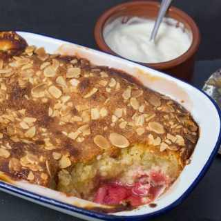 Rhubarb and Almond Pudding