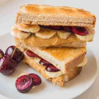 5 Days of Sweet Toasties – Day 2: Cherry, Banana and Peanut Butter Toastie