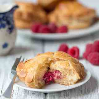 Raspberry and Almond Pithiviers