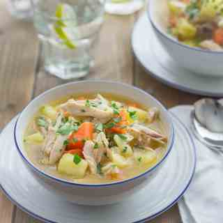 Piled-High Chicken and Vegetable Soup