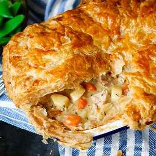 Creamy Chicken Puff Pie