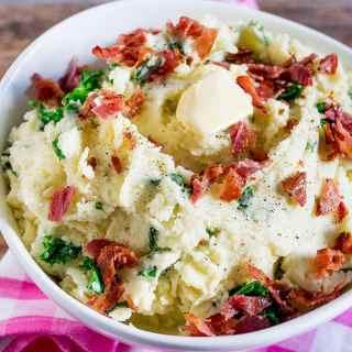 Kale and Bacon Mashed Potatoes