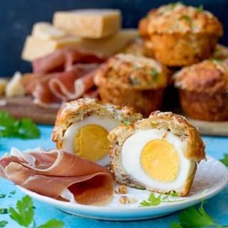 Grana Padano and Egg Stuffed Muffins With Prosciutto di San Daniele.