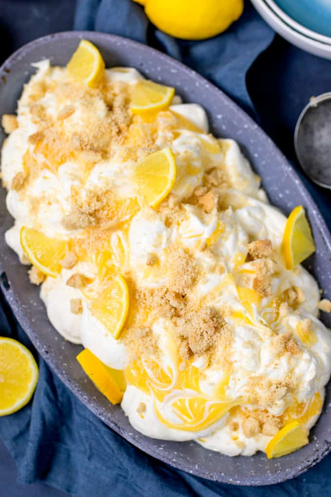 ThisNo-Churn Lemon Shortbread Ice Cream makes a great all-in-one dessert! No special equipment needed. Easy to make gluten free too!