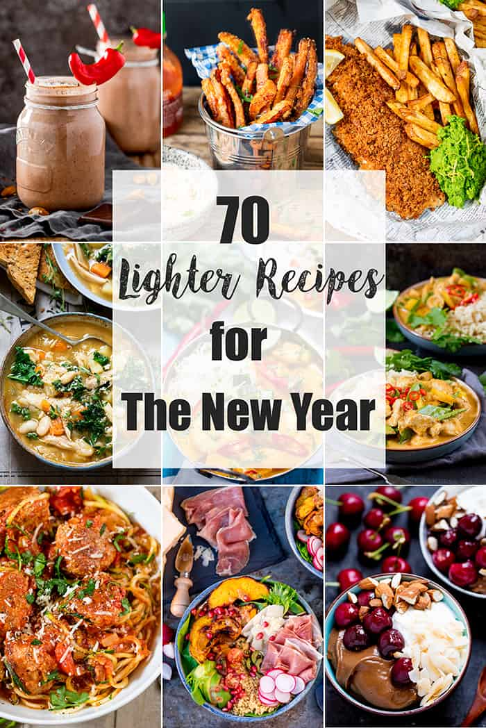 70 Lighter Recipes for the New Year. Lots of delicious recipes, full of flavour to keep you satisfied, but a little bit healthier. #healthierrecipes #healthierrecipesroundup #roundup #lighterrecipes