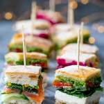French Pressed Sandwich Bites Posh Sandwiches For Your Party Table Nicky S Kitchen Sanctuary
