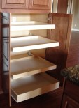 Pull Out Shelves Wood Pantry