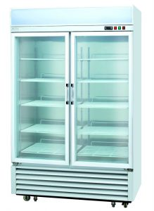 2 transparent door refrigerator