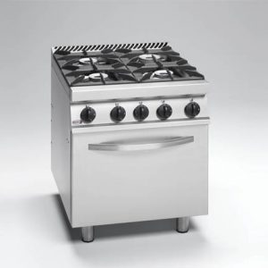 stove with 4 open burner and an oven