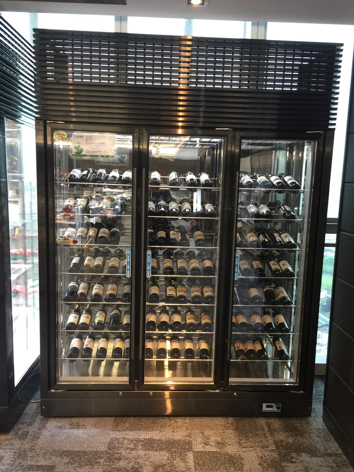 all glass upright refrigerator
