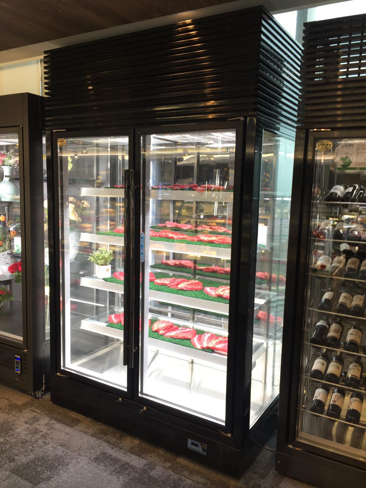all glass upright refrigerator
