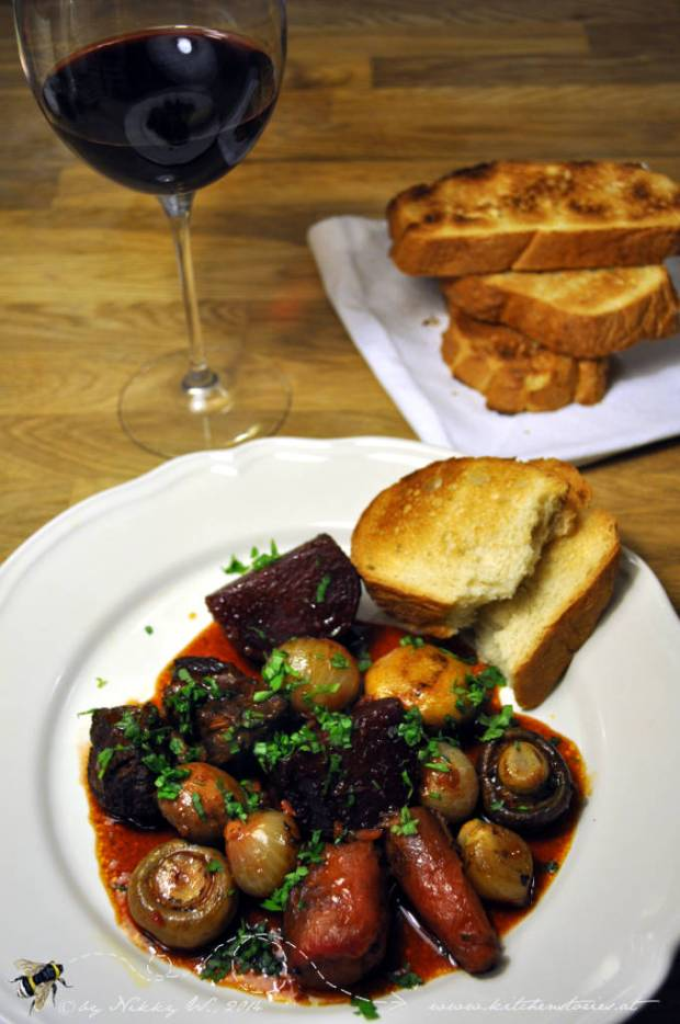 Beef and Beet Bourguignon