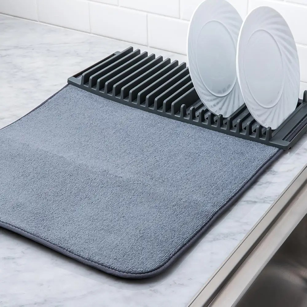 umbra udry drying mat with rack charcoal