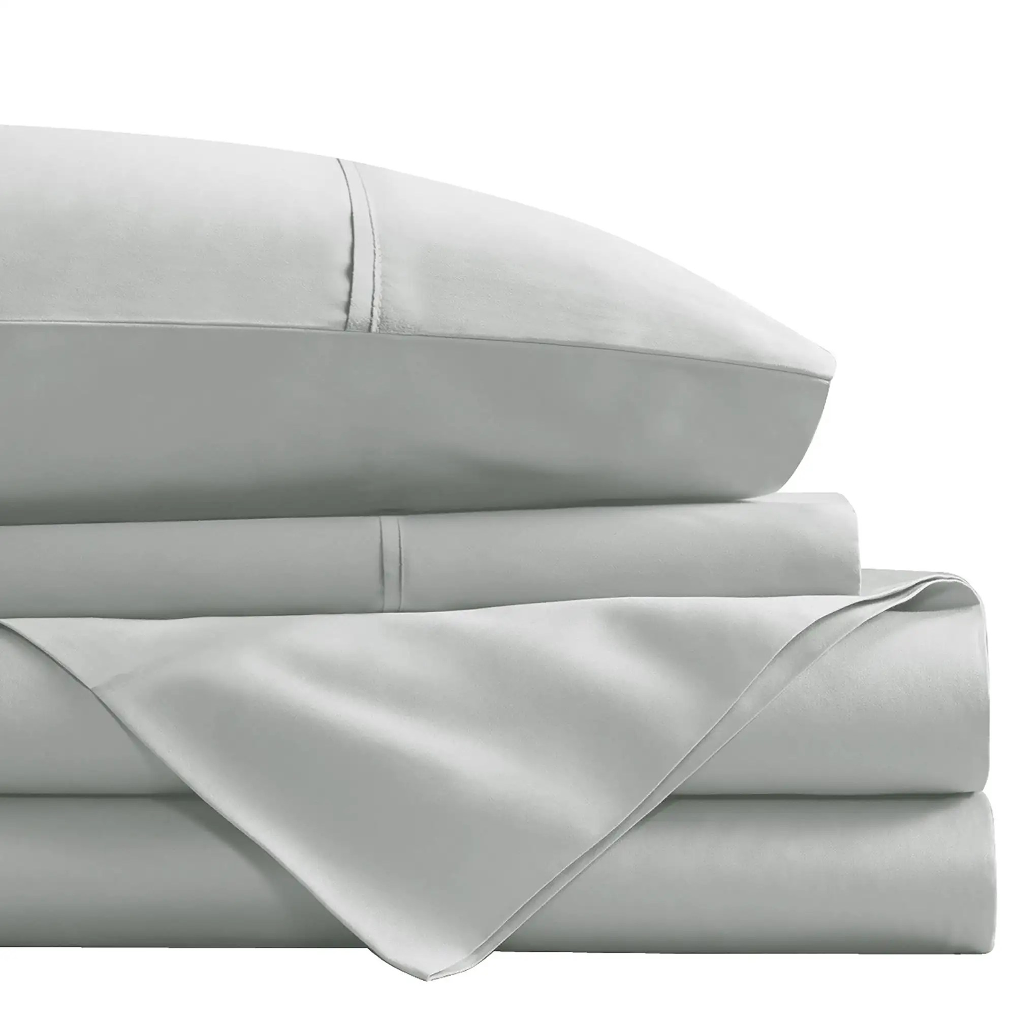 cathay home 1800 series 100 microfiber queen sheet set light grey