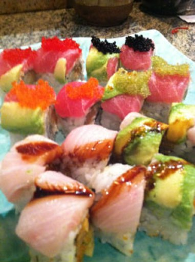 eating sushi for the first time