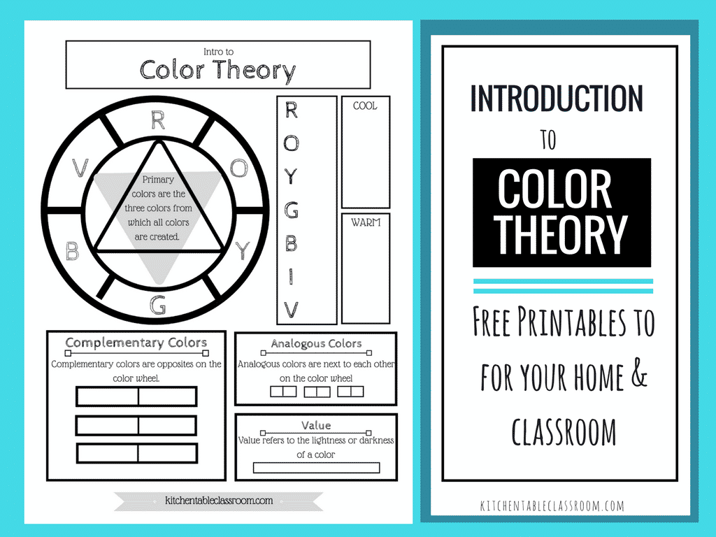 Free Color Wheel Amp Color Theory Printable