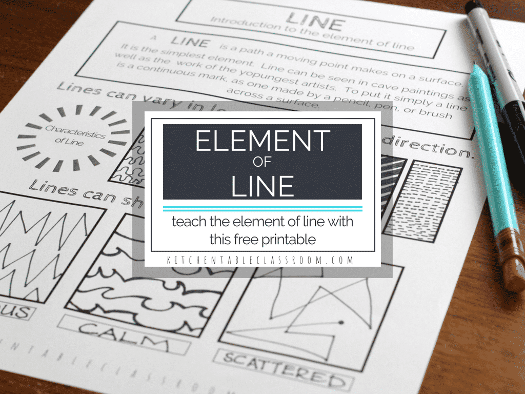 Types Of Lines In Art A Free Element Of Line Printable
