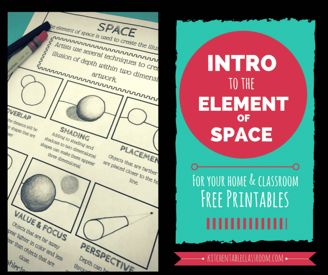 The element of space is a pretty special one.  It's the secret ingredient that makes art go from outlines to realistic. Here are some ways to create depth.