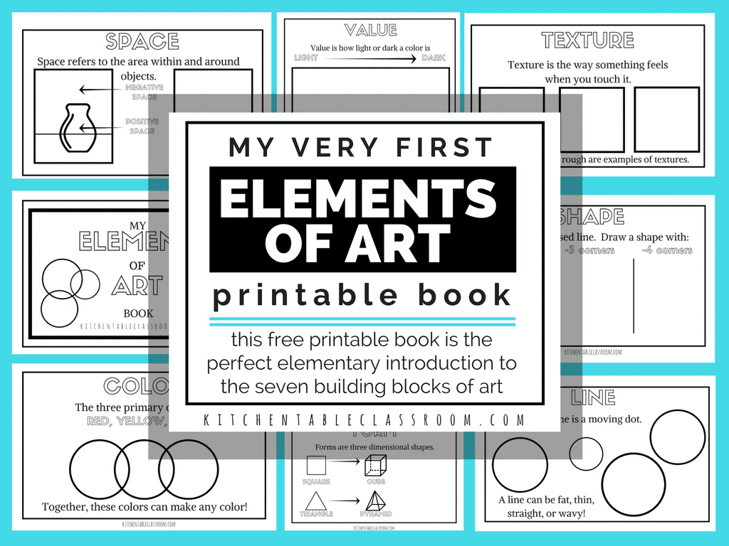 Elements Of Art For Kids With Free Printable Book
