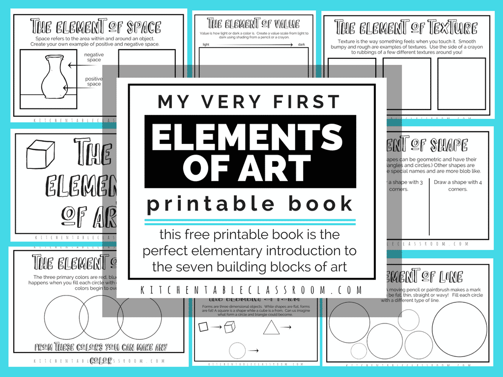 The Formal Elements Of Art For Kids With Free Printable