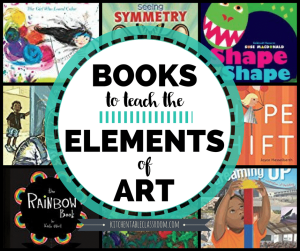 Books are a fun way to teach the elements of art.