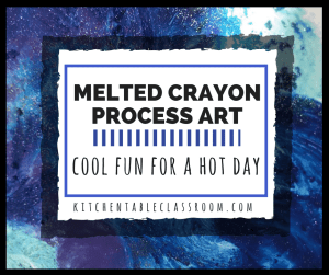 Use up old crayons with this fun melted crayon process art!