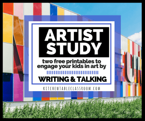 Read and about art and then write about art with this artist study guide!