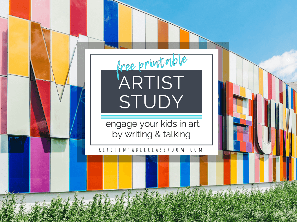 Artist Study Worksheets Talking Amp Writing About Art With