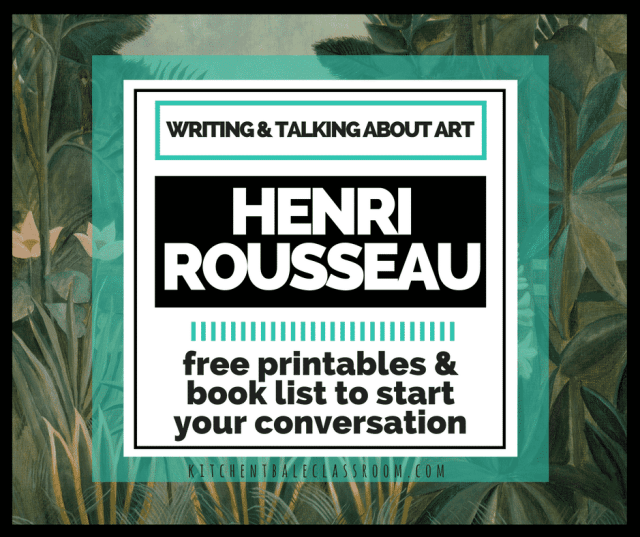 What kid isn't fascinated by the jungle?Henri Rousseau is a natural when it comes to getting kids talking about art! Free printable study is included!