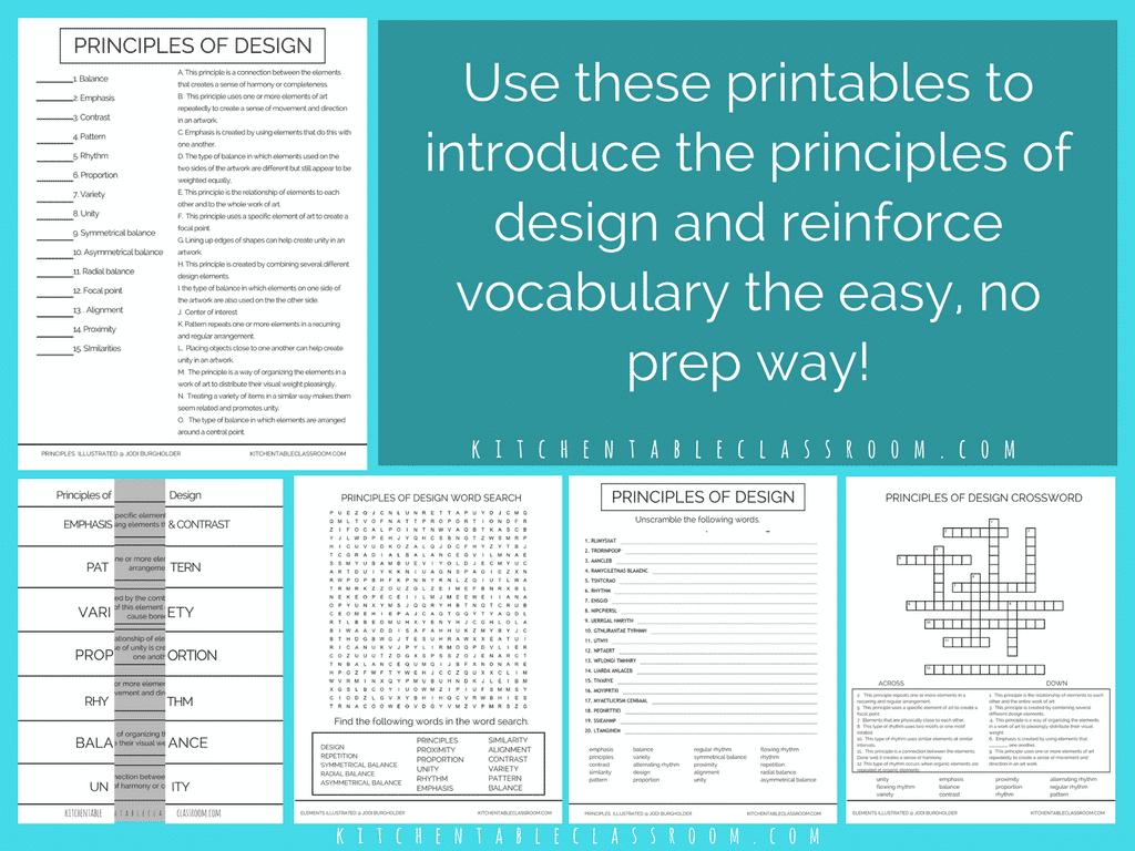 The Principles Illustrated Principles Of Design Posters Amp Digital Resource Bundle