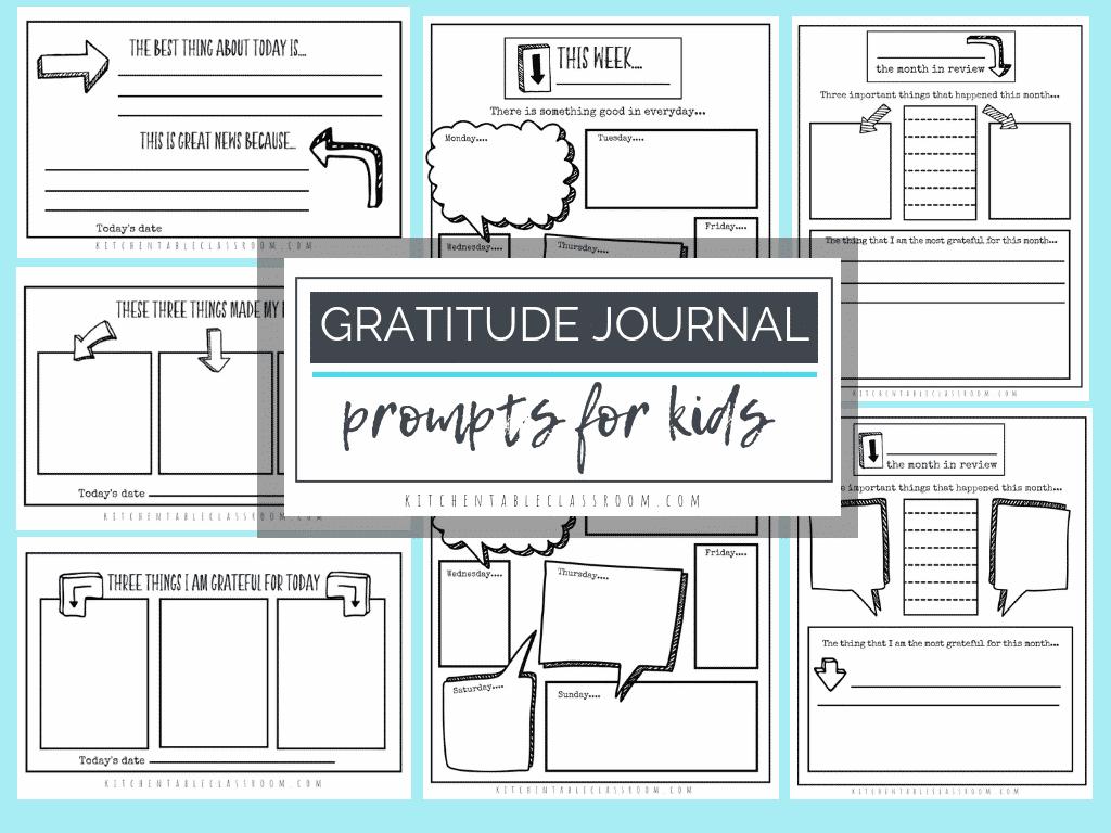 Gratitude Journal Prompts Free Printable Gratitude