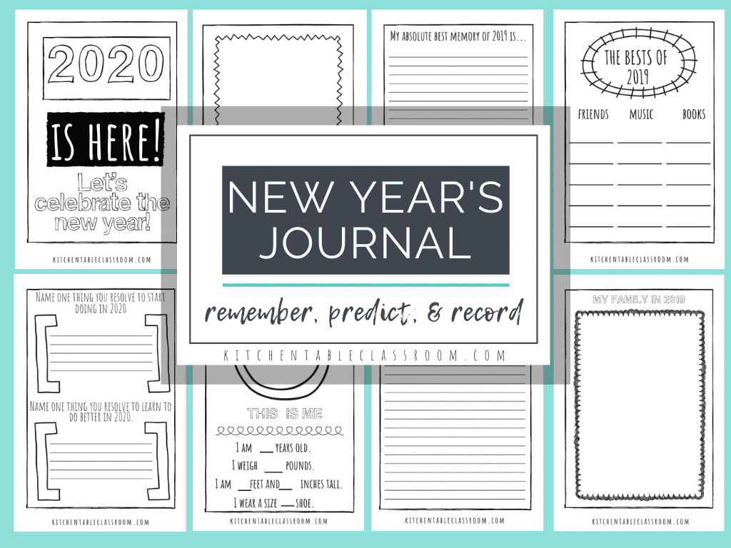 New Years Coloring Pages Free Printable Journal For Kids
