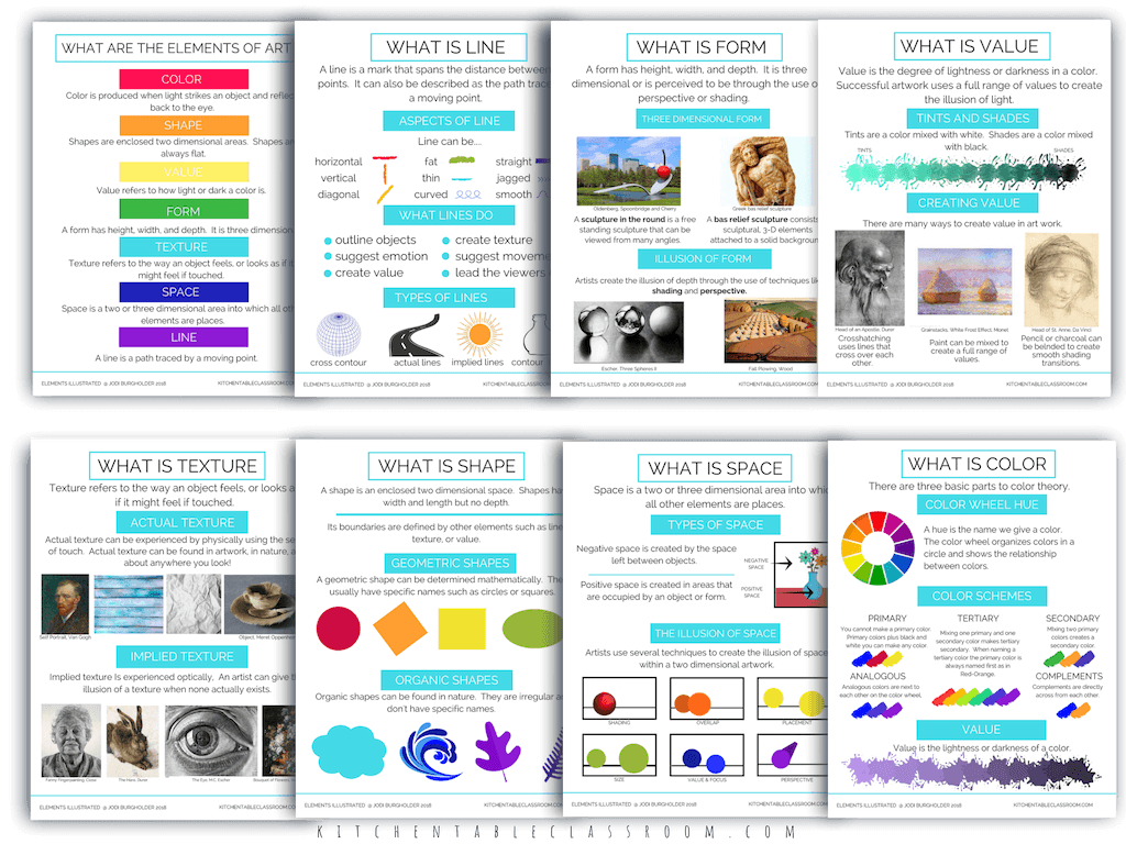 Elements Illustrated Elements Of Art Poster Updated 1