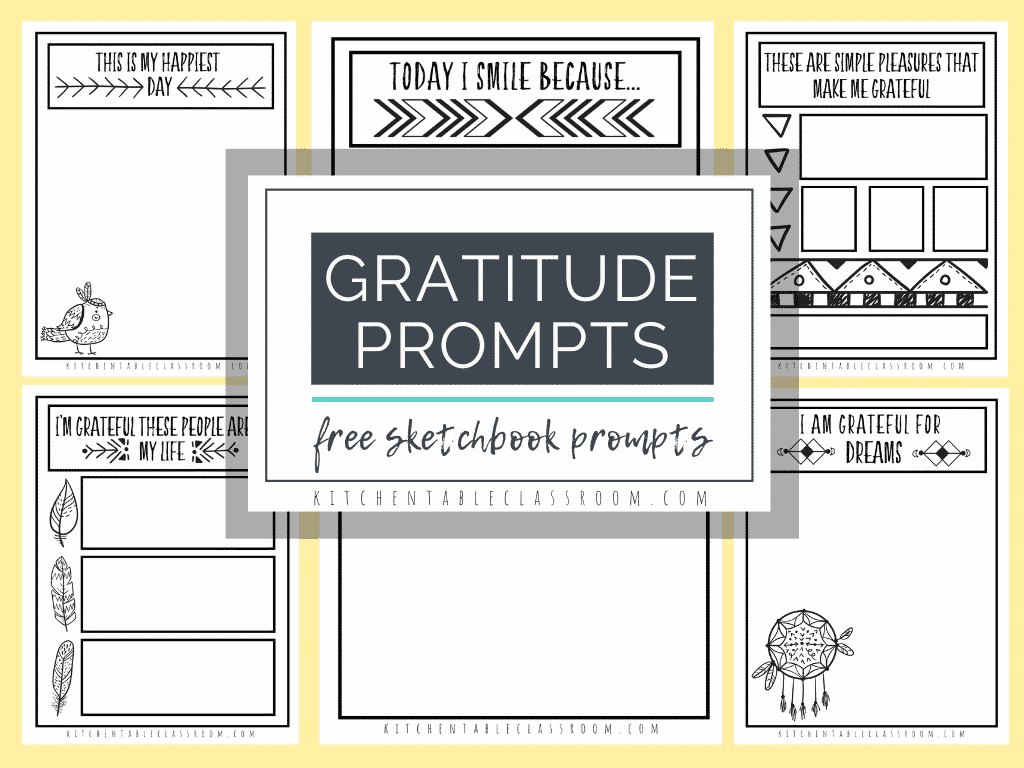 Gratitude Sketchbook Prompts