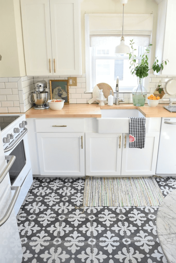 best tile for a small kitchen