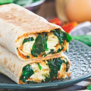 Homemade Starbucks Spinach & Feta Breakfast Wrap - Kitchen Treaty Recipes