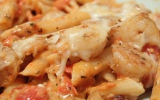 Shrimp and Penne Rosé Bake