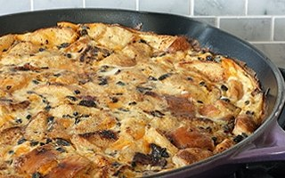Bacon and Cheese Breakfast Strata